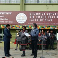 Receiving the Cheque, Certificate and the Trophy from the Principal Shri Surendra Kumar Verma